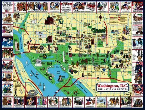 Washington, DC Tourist Map (48 pieces)