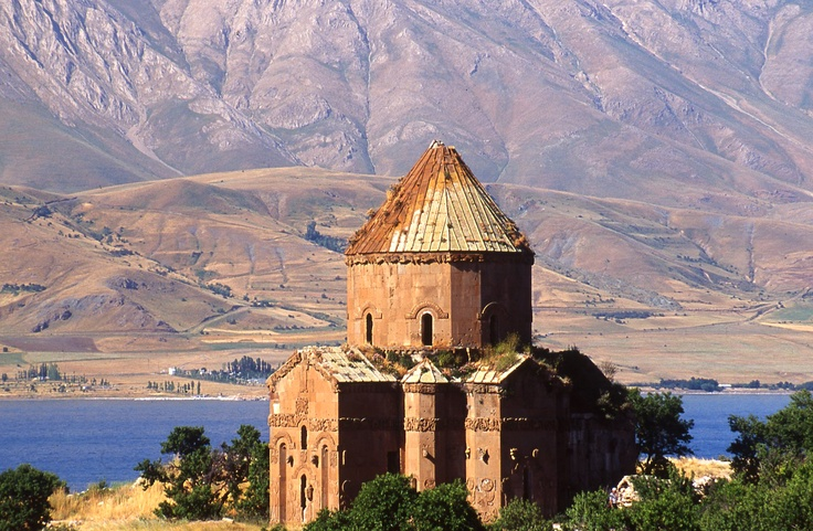 Akhtamar Island, Armenian Cathedral of the Holy Cross. The unique importance of the Cathedral Church of the Holy Cross comes from the extensive array of bas-relief carving of mostly biblical scenes that adorn its external walls. Clicking the image will take you to 14 days Eastern Turkey Tour offer from TurkeyVision