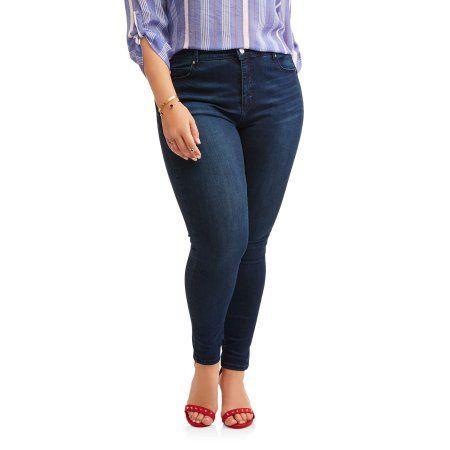 Petite Bandolino Women's Plus Millennial Curvy Jeans, Size: 22W Petite, Gray