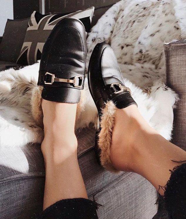 Furry slides, loafer slides, women's shoes. #regram via @ch.phr8ph