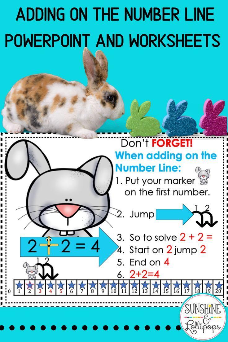 Number Line Addition Sums To 20 Number Line Kindergarten Math Activities Differentiation Activities