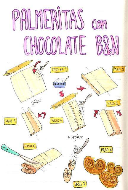 Palmeritas de azúcar moreno con chocolate blanco y negro