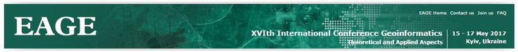 #geocongress XVIth International Conference Geoinformatics Theoretical and Applied Aspects.  Kiev, Ukraine: 15 May 2017 - 17 May 2017.  The European Association of Geoscientists and Engineers (EAGE) and the All Ukrainian Association of Geoinformatics (AUAG) would like to invite you to the XVIth International Conference 'Geoinformatics: Theoretical and Applied Aspects'.
