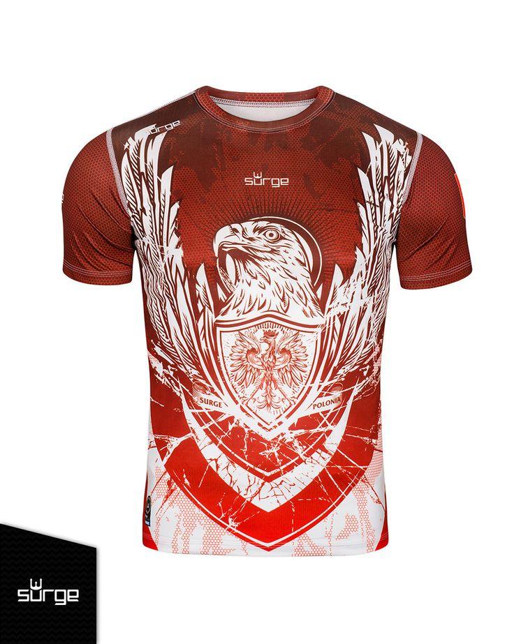 Koszulka termoaktywna Orzeł Sport dziecięca Surge Polonia