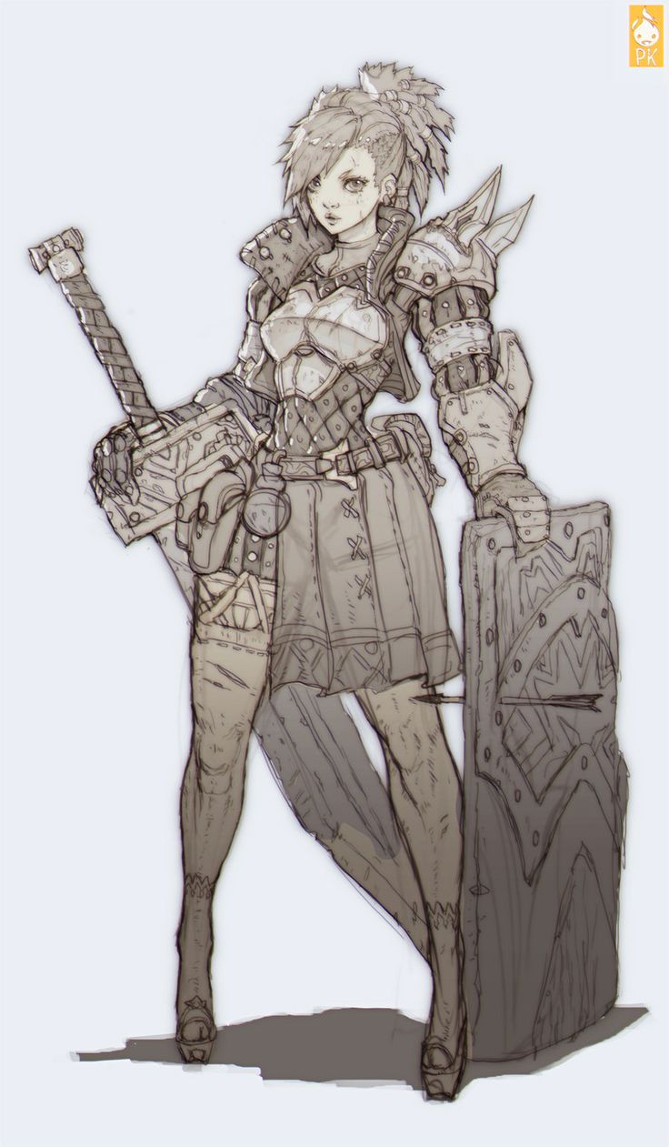 Female knight character based on Zeronis/Paul Hyun Woo Kwon concept - Polycount Forum