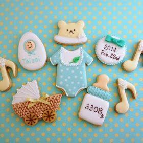 アイシングクッキーレッスン&オーダーメイド【fiocco】: ベビーのアイシングクッキー