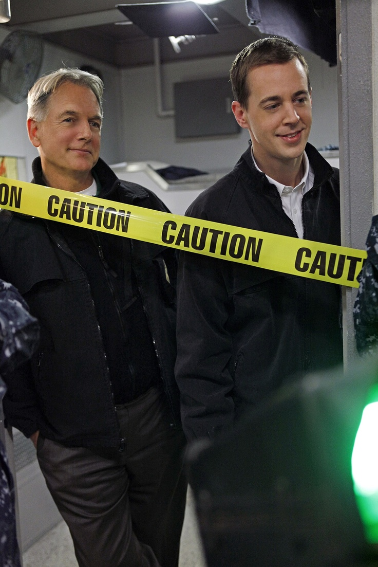 NCIS Gibbs (Mark Harmon) and Tim (Chad Murray)