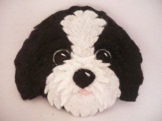 Felt Dog ornament Shih tzu felt dog personalized by ynelcas