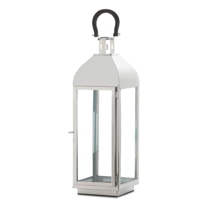 Tribeca Large Candle Lantern Garden Patio Porch Light Glass Table Steel Glow #GalleryofLight