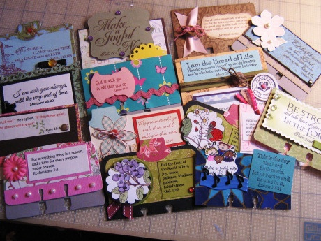 Scripture cards.  Great idea for women's group, children, or for family. The swap sounded fun!