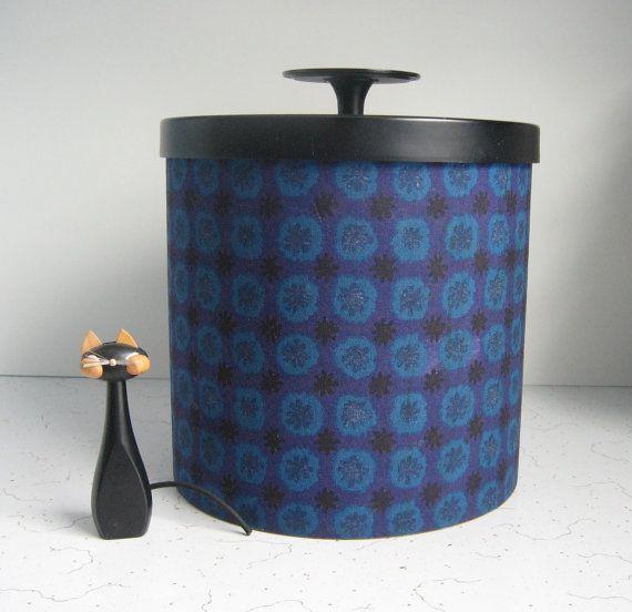 Vintage Laurids Lonborg Danish Modern Ice Bucket   Purple, Blue, Black, Mid  Century Barware
