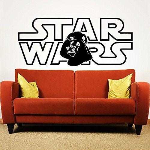 Wandtattoo Star Wars Darth Vader Fototapete Vinyl Aufkleber Schlafzimmer Dekoration für Zuhause Junge Kinderzimmer Wandsticker Wandbilder Wandaufkleber Wand Sticker