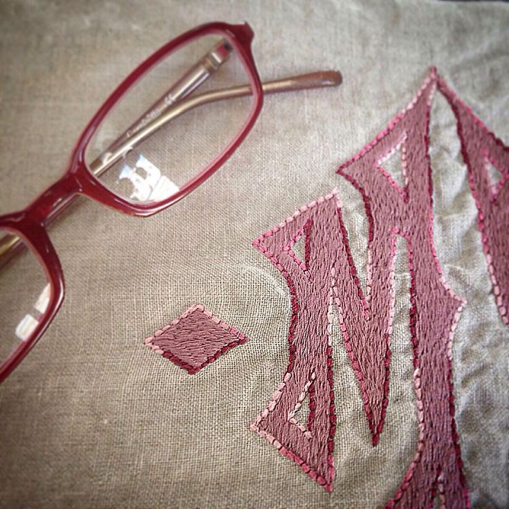MarinaC - a gorgeous shade o pink for this gothic monogram  #marinacmilano #alwayschic