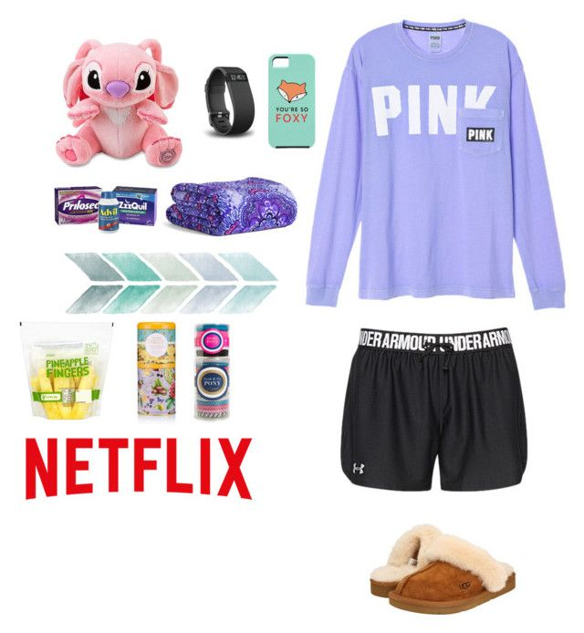 """😷I'm Sick🤒"" by nerdgirl18 ❤ liked on Polyvore featuring Under Armour, INC International Concepts, UGG Australia, Fitbit, Vera Bradley and L. Erickson"