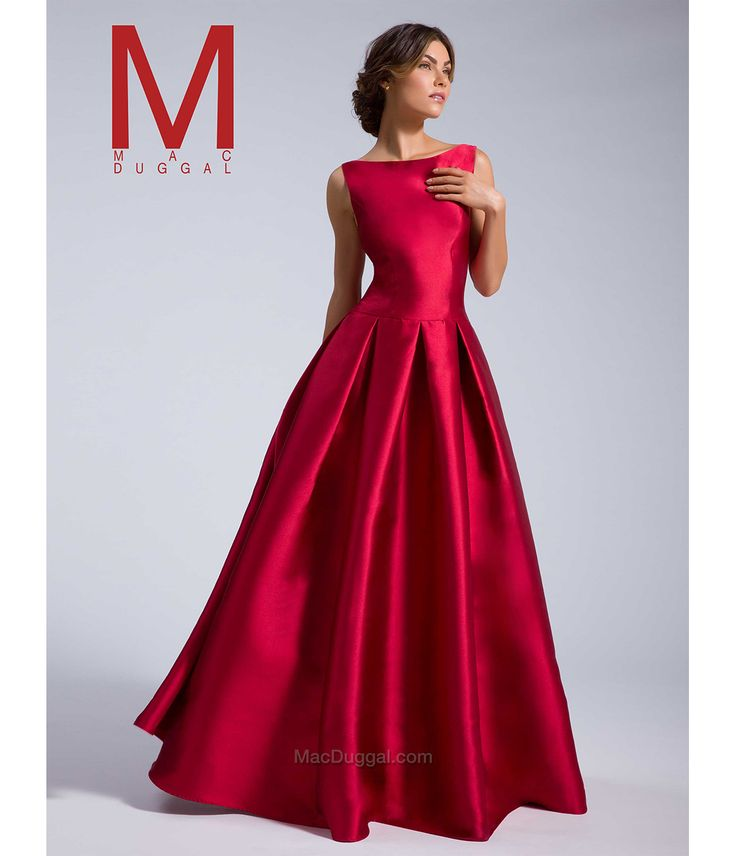 1950s New years Eve dress: MacDuggal 25201I Bordeaux Boat Neck Ball Gown 2016 Prom Dresses $398.00 AT vintagedancer.com