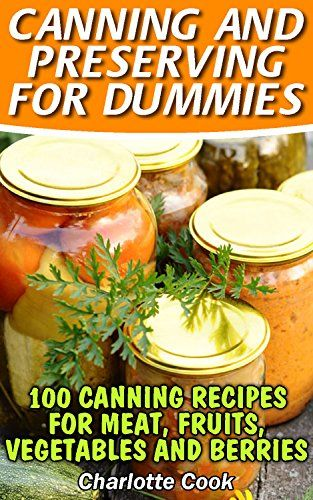 Canning and Preserving for Dummies: 100 Canning Recipes for Meat, Fruits, Vegetables and Berries: (How To Store Food And Water, Jar Food) by [Cook, Charlotte]
