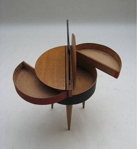 1950's Danish Sewing Stand via plastolux - Click image to find more Home Decor Pinterest pins