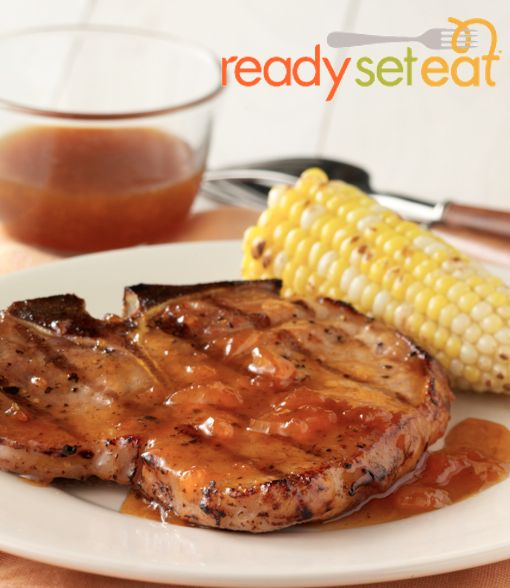 Grilled Pork Chops with Mustard Glaze… Grill these chops up with a ...