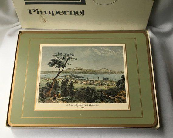 Vintage Pimpernel Coasters