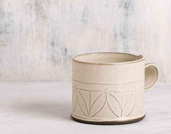 white Ceramic mug , Modern tea cup , patterned coffee Cup,  textured coffee mug , minimalist  white Cup , coffee lovers gift