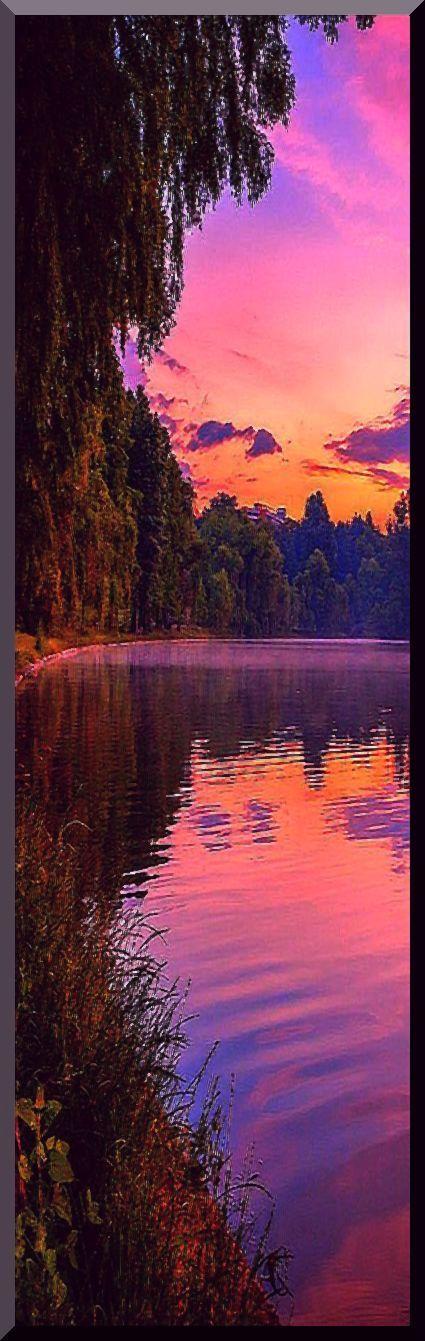 purple sunset #photo via: essenceofnxture: On the edge by Sorin Mutu --- www.3leapfrogs.tumblr.com