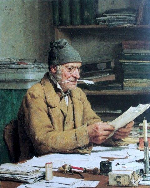 Der Gemeindeschreiber (by Albert Anker Swiss)