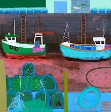 emma dunbar artist - her work makes me feel happy...the colour palette is bright and uplifting.....this painting reminds me of StIves