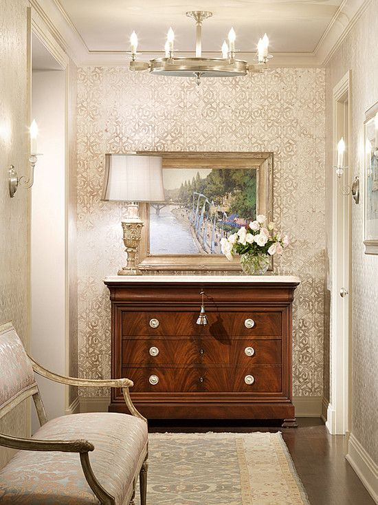 Wallpaper In A Hallway Or Small Foyer For The Home