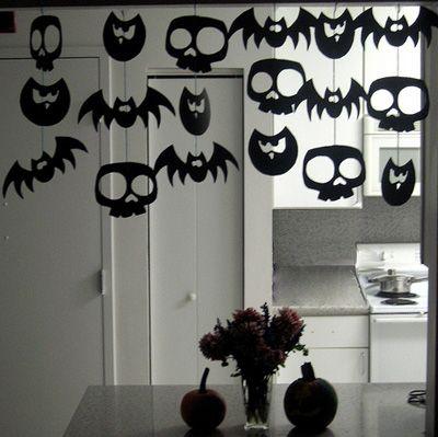 Guirlande Halloween , Déco Halloween à fabriquer