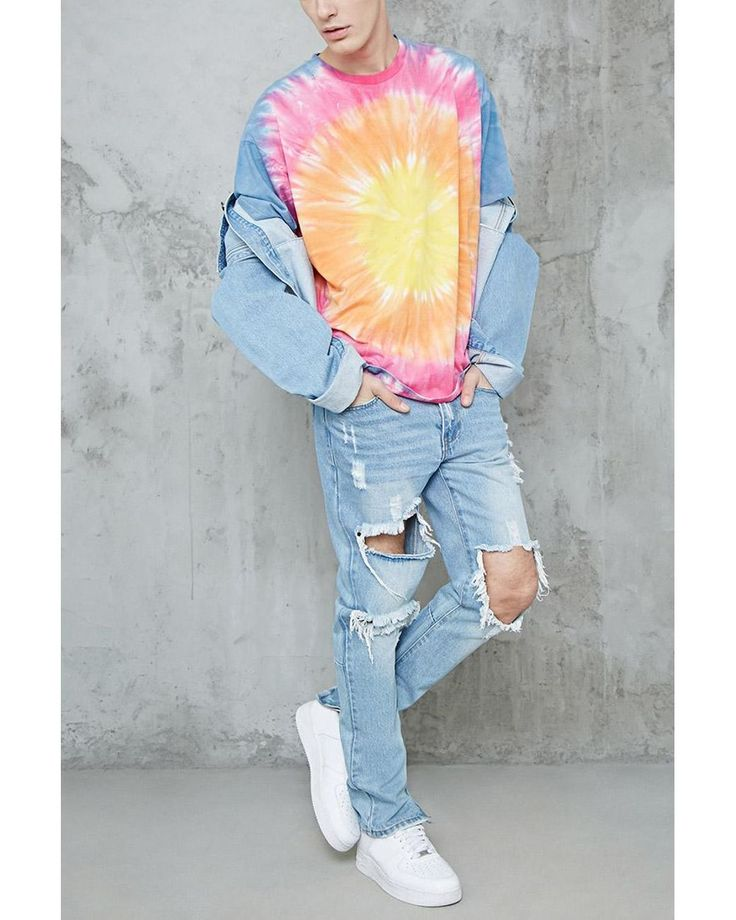 Buy Forever 21 Men's Multicolor Circular Tie-dye Tee, starting at $19. Similar products also available. SALE now on!