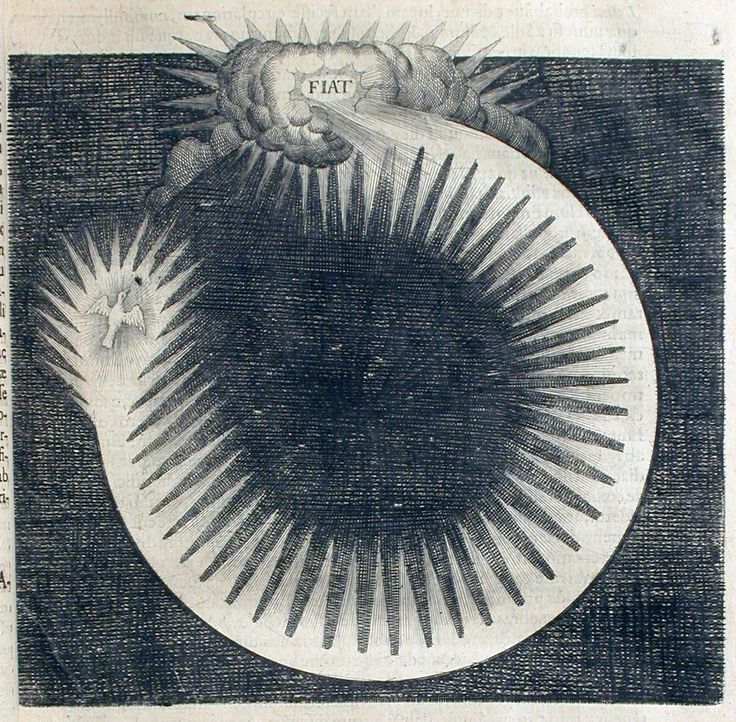 Robert Fludd, Let There Be Light, from History of the Macrocosm and Microcosm, c. 1600s [a study of light]