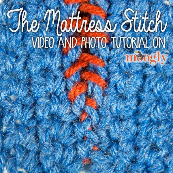Learn how to conquer the Mattress Stitch for seaming your #Crochet Projects - video and photo tutorial on Moogly