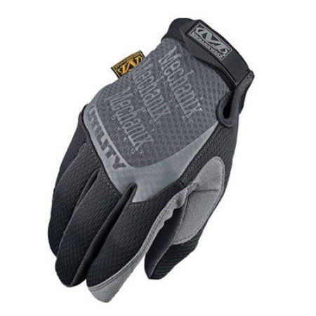 Mechanix Wear 2X Black Utility Full Finger Synthetic Leather And Spandex Mechanics Gloves With Hook and Loop Cuff And Reinforced Clarino Dura-Fit Synthetic Leather Thumb And Index Fingertips