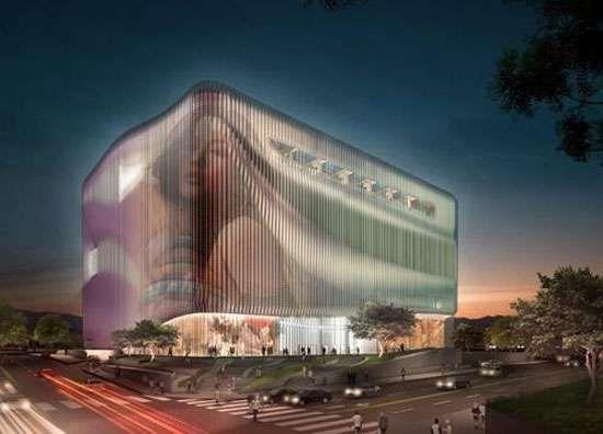 The UNStudio Galleria Cheonan Lets Loose At Night #architecture trendhunter.com
