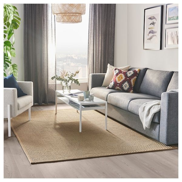 Hellested Rug Flatwoven Natural Brown 5 7 X7 10 Ikea In 2021 Ikea Big Rugs How To Clean Carpet