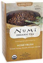 I tasted dozens of different teas until I found my  favorite (non-caffeine):  Numi Honeybush.