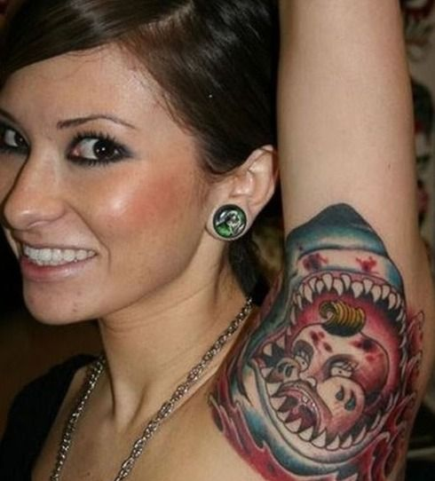 The Craziest Tattoos On Women