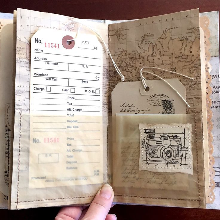 Unconventional Journal Make A Ticket To A Place You Want To Go And Put It On This Page Scrapbook Journal Junk Journal Vintage Junk Journal