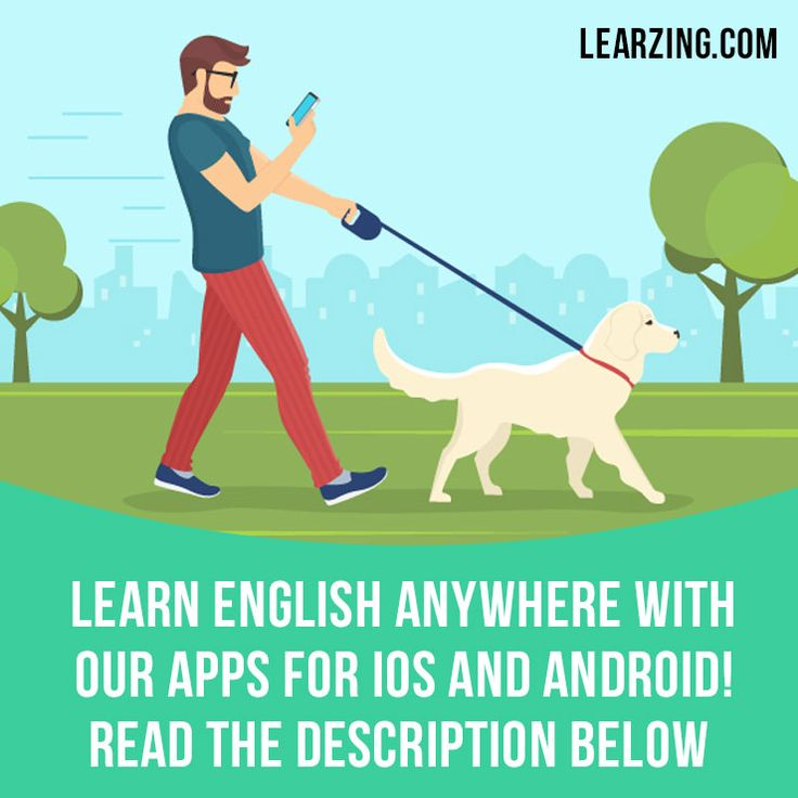 """Learn English anywhere with our apps for iOS and Android! Try them now: 1. Go on learzing.com 2. On the website choose the topic you would like to learn (for example, """"Slang""""). 3. Download an app for iOS or Android. Or just search for """"Phrasal Cards"""", """"Idiom Land"""" or """"Slang Cards"""" on the app store."""