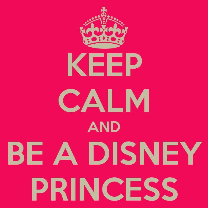 Princess Keep Calm Free Printable Signs.
