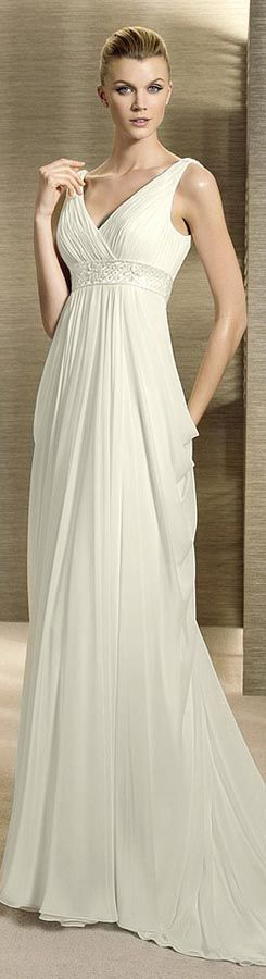 Grecian wedding dresses white one - White one 2012 wedding dresses  Love the flow!