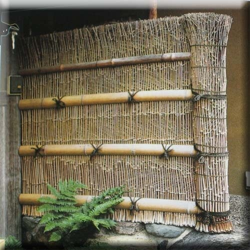 117 best images about japanese gates fences on pinterest for Japanese bamboo garden design
