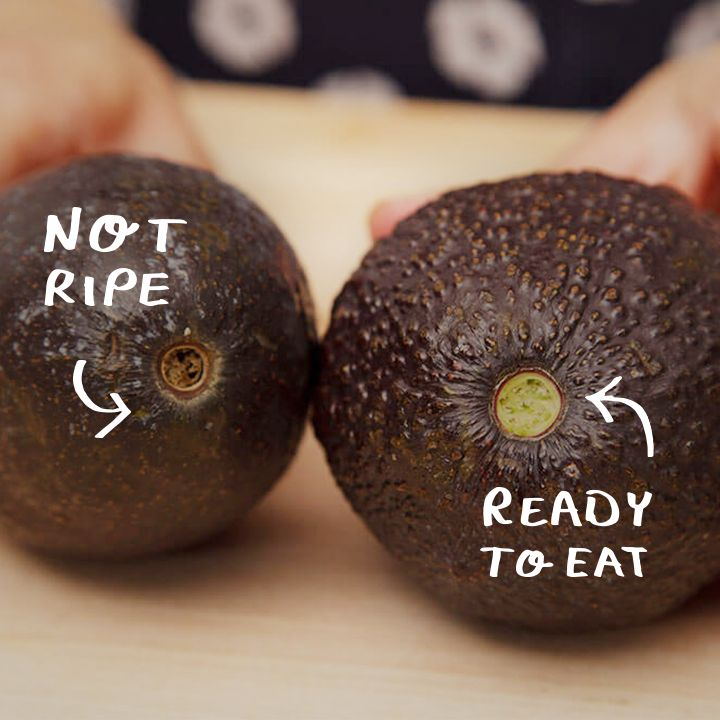 Neat little trick for when you are gambling on eating avocados. Just pick off the stalk and check the colour. #LifeHack