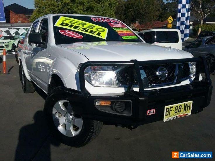 2010 Nissan Navara D40 ST-X (4x4) White Manual 6sp Manual Dual Cab Pick-up #nissan #navara #forsale #australia