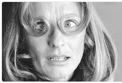 Oscar winning actress Ms Cloris Leachman giving Richard Avedon the eye