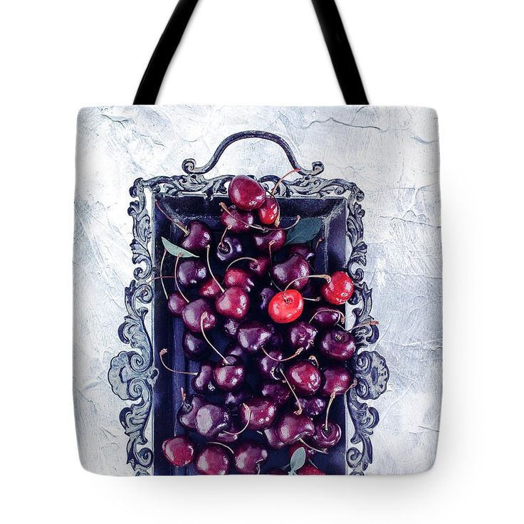 White Tote Bag featuring the photograph Winter Cherry by Oksana Ariskina Red berry on a antique tray on a white marble, stucco, plaster textured background. Available as mugs, posters, greeting cards, phone cases, throw pillows, framed fine art prints, metal, acrylic or canvas prints, shower curtains, duvet covers with my fine art photography online: www.oksana-ariskina.pixels.com #OksanaAriskina
