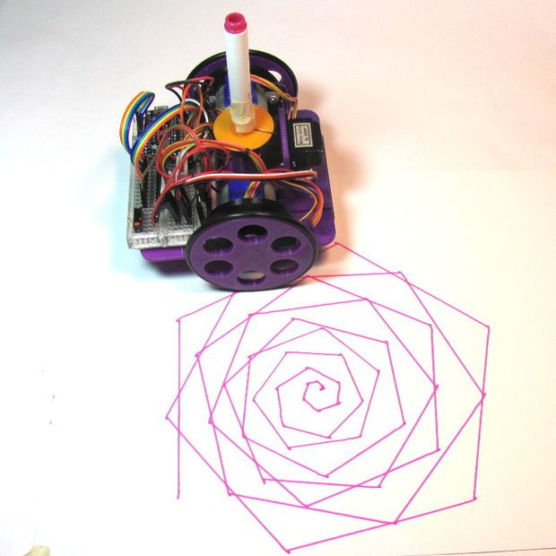 Picture of Low-Cost, Arduino-Compatible Drawing Robot