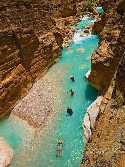 Take a trip to Havasu Falls and then float down Havasu creek <3 <3