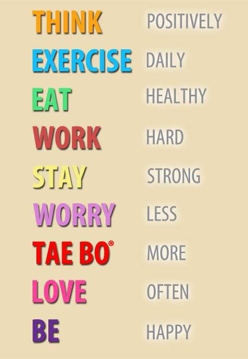 Tae bo...I still love Tae Bo!