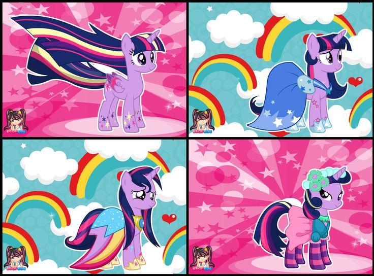 My Little Pony Twilight Sparkle Rainbow Power Style Dress Up Game ...